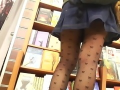 her sexy pantyhosed legs upskirt