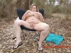 Big tits in a rope bra