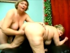 Two chubby lesbians are caressing each other's delicious private parts orally
