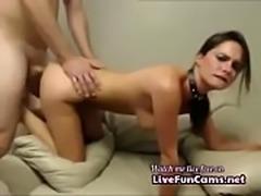Sexy European Brunette Babe Makes Threesome Sextape
