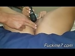 Mature amateur wife homemade handjob and fuck with cumshot