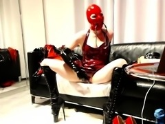 Latex fetish porn movie with a bunch of sex toys