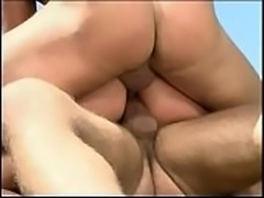 Nasty bitch Gia Paloma enjoys double anal penetration from couple of horny fitness freaks