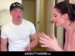 Big tits milf step mom and step son lube fucking with facial