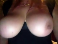 Big Huge Nipples from Riding Dildo Webcam