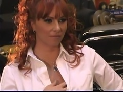 Hot Redhead MILF Gets Nailed Hard In A Classic Car