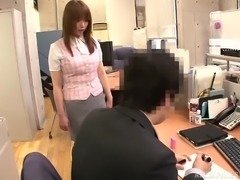 Naughty Japanese Girl Having Hidden Sex with Colleague in the Office