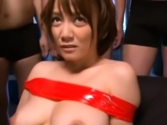 Delightful japanese playgirl with big tits sucks a hard dick