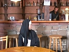 Nun&#039;s Double Duty In The Pub