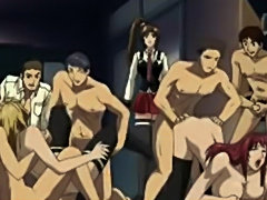 Hentai Ravage Bukkake Party