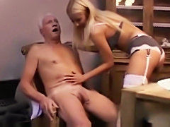 Hot blonde Teen tight pussy ripping old pervert