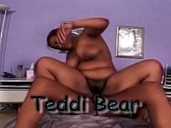 Teddi Bear - black hairy bbw girl from Hairy Black Snatch 2