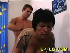 Grandma wakes up young man for anal action  free