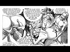 One of the most bizarre and extreme comic series ever created.  Hilda is beautiful and insanely horny for painful anal hardcore pounding by evil dungeon masters.  Just a tiny sample.