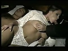 Wife gets fucked in all holes while husband is sleeping - xHamster.com