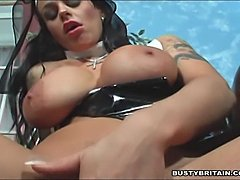 Big tits nun Victoria Brown filling her pussy and ass with a cross, vegatable and her whole fist