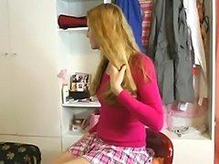Young teen Nicole K masturbates in her bedroom