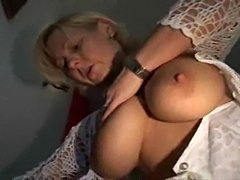 This MILF is eager to make it in porn.