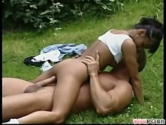 Outdoor fanny fucker fun  free