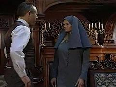 a horny nun has a little urge
