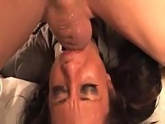 Face fucking this girl gets messy