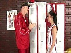 Cherry Ferretti  and her fitness trainer