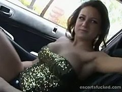 Escort in car handjob before sex and this is risky folks