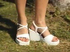 Swedish hottie Jennifer Andersson having sex outdoors