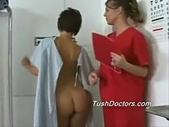 Melissa gets her annual gyno rectal exam  free