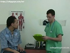 Sexy latina gay with medical man