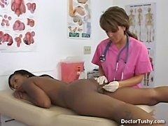 Ebony female gets exam and anal exam  free
