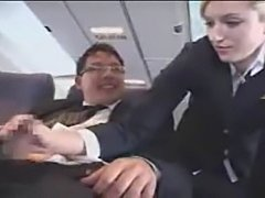Flight attendant hand job