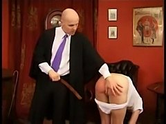 Dirty schoolgirl gets her butt spanked