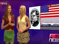 Czech news anchors getting naked