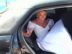 Bride fucked in a car  free